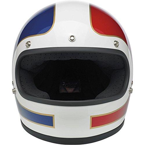 Biltwell Gringo Le Tracker Helmet RedWhiteBlue  Large