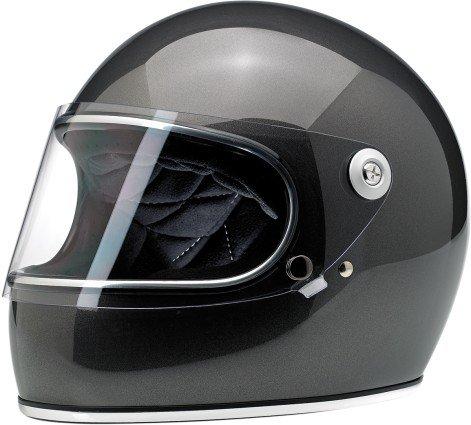 Biltwell Gringo S DOT Certified Full-Face-Helmet-Style Helmet Metallic Charcoal X-Small