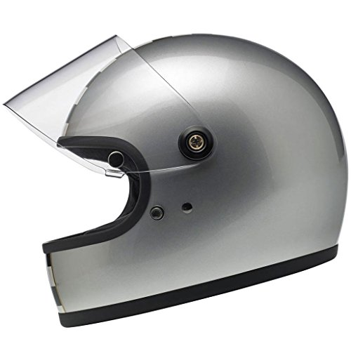 Biltwell Gringo S Helmet - LE Checker Metallic Silver - X-Large