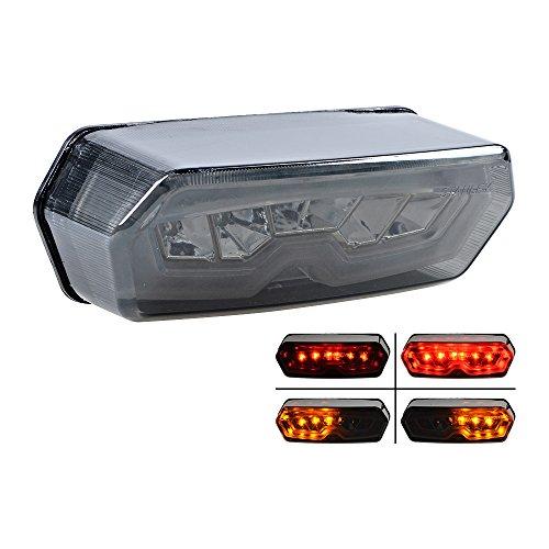 2014 -2016 Honda Grom 125 MSX Integrated LED Tail Turn Signal Brake Stop Light Smoke Lens Type B