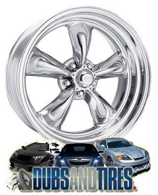 15 Inch 15x8 American Racing wheels wheels CUSTOM TORQUE THRUST II Polished wheels rims