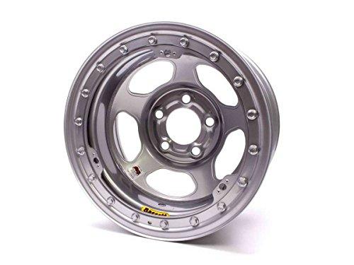 Bassett 58AF3IS Racing Wheel Racing Inertia Advantage IMCAWissota Silver Powdercoated Wheels