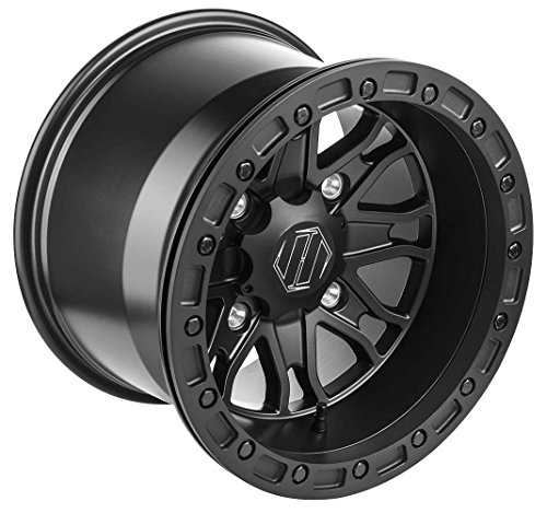 Hiper Wheel 1510-PFSBK-55-SBL-BK 15in Raptor Racing Wheel - 15x10 - 55 - 4156 - Black 15x10