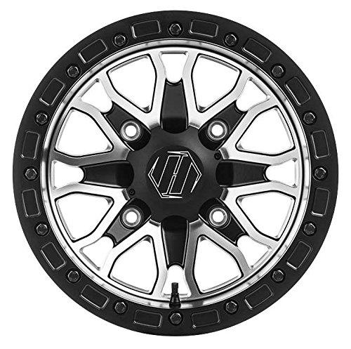 Hiper Wheel 1580-PFSCM-44-SBL-CM 15in Raptor Racing Wheel - 15x8 - 44 - 4156 - Contrast Machined 15x8