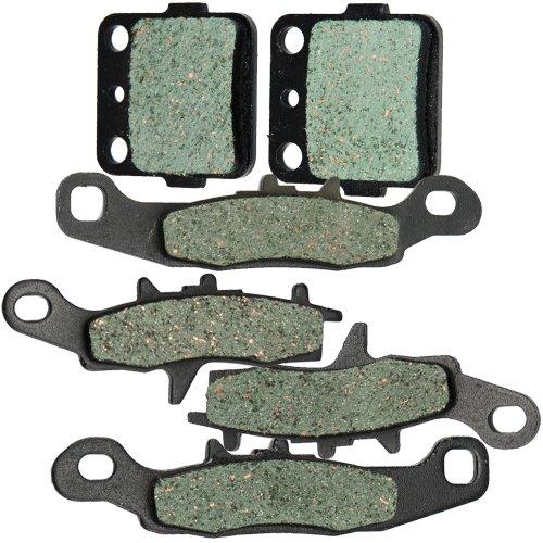 Front and Rear Kevlar Carbon Brake Pads for KAWASAKI KFX 450R KSF 450 2008 2009 2010 2011 2012 2013 2014