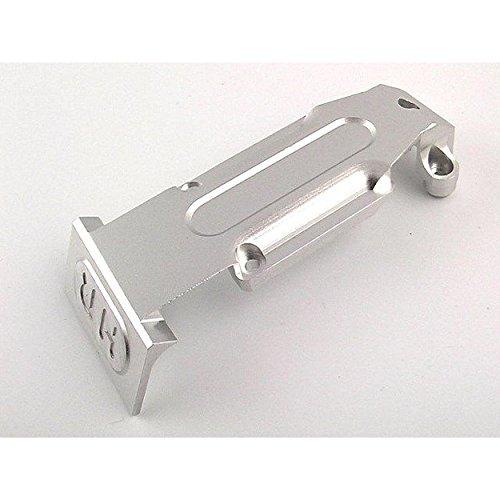 Hot Racing RVO331R08 Silver Aluminum Rear Skid Plate