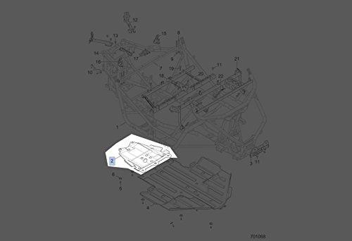 Polaris 2015-2018 RZR 900 60IN Rear Skid Plate 5450706-070 New OEM