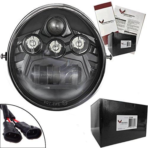 Eagle Lights V-Rod LED Daymaker Projection Headlight for Harley Davidson Black