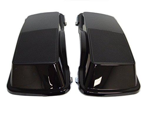 6x9 Saddlebag Speaker Lids Gloss Vivid Black for 1993-2013 Harley-Davidson Touring Models Road Glide Street Glide Electra Ultra Classic
