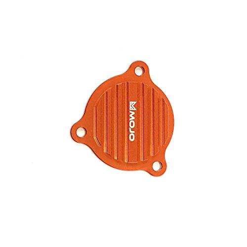 MojoMotoSport - KTM Oil Pump Cover Orange - CNC Billet Anodized Aluminum  MOJO-KTM-OPC