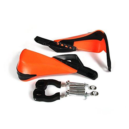 JFG RACING Orange Plastic 78 and 1 18 Handguards Hand Guards with Universal Mounting System For KTM MX EGS SMR 50 65 85 125 150 Enduro Dirt Bike Motorcycle MX Supermoto Racing ATV Quad KAYO