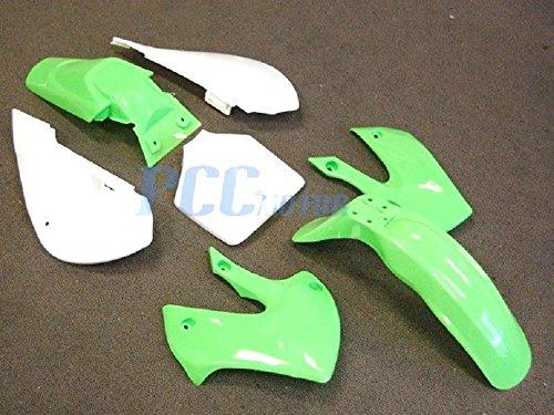 3L PS16 KAWASAKI PLASTIC KLX 110 DRZ110 KLXDRZ 110 - GREEN 2002-2009