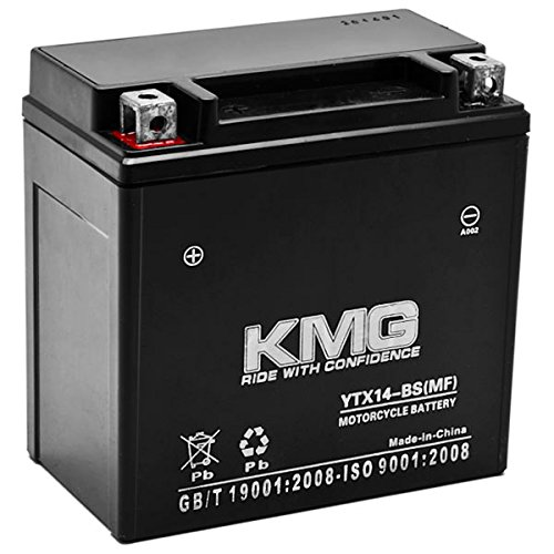 KMG Suzuki 400 LT-A400 Eiger 2WD F Eiger 4WD 2002-2007 YTX14-BS Sealed Maintenace Free Battery High Performance 12V SMF Replacement Maintenance Free Powersport Motorcycle ATV Scooter Snowmobile KMG