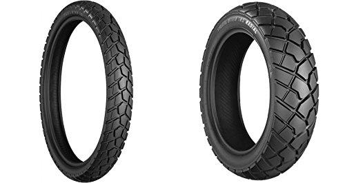 BRIDGESTONE Blackwall Front Rear Tire Set 10090-19 13080R17 for BMW F650 1997-2007