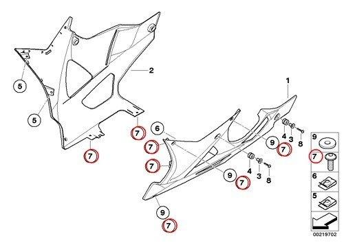 BMW Genuine Motorcycle Fillister Head Screw M5X14 F650CS HP2 Enduro Megamoto R1200RT R900RT R1200R R1200ST HP2 Sport R1200S K1200S K1300S K1200R Sport K1300R K1200GT K1300GT S1000RR K1600GT