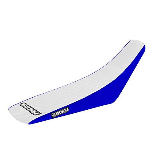 Enjoy MFG 1996 - 2001 Yamaha YZ 125250 Blue Sides  White Top Full Gripper Seat Cover