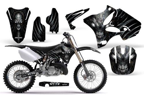 CreatorX Yamaha Yz125 Yz250 2 Stroke Graphics Kit Decals Skull Chief Silver