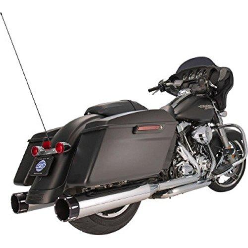 S&S Cycle MK45 45 Mufflers Chrome Black Tracer End Cap