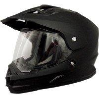 AFX FX-39 Unisex-Adult Full-Face-Helmet-Style Dual Sport Helmet Flat Black Medium