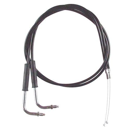 Black Vinyl Coated 10 Throttle Cable Set for 1994-1995 Harley-Davidson Dyna FXD Convertible models - HC-0358-0165-FXDS