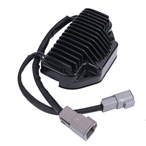 Chrome Voltage Regulator Rectifier for 2006-2007 Harley Davidson Dyna FXDWG Replaces 74631-06