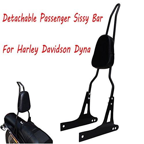 Detachable Passenger Sissy Bar Backrest with Luggage Rack for Harley Davidson Dyna FXD FXDB FXDC FXDL FXDWG FXDSE