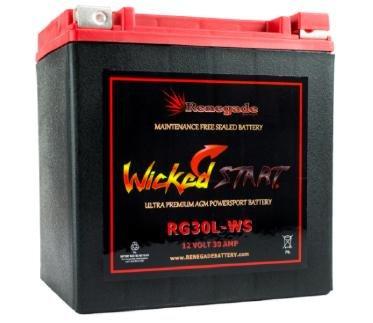 RG30L-WS Wicked Start 600 CCA Battery Harley 2009 Road King Road King Classic Part BTX30L B30L-B CB30L-B YIX30L 66010-97ABC