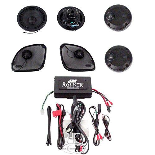 J&M Audio Rokker XXRK Extreme 4 Speaker and 630 Watt Amp Kit for 2016 and Newer Harley-Davidson Road Glide Ultra models - XXRK-630SP4-16RU