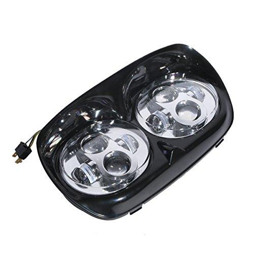 XFMT Chrome Dual LED Head Light Assembly For Harley-Davidson Road Glide FLTR 1998-2013 2004