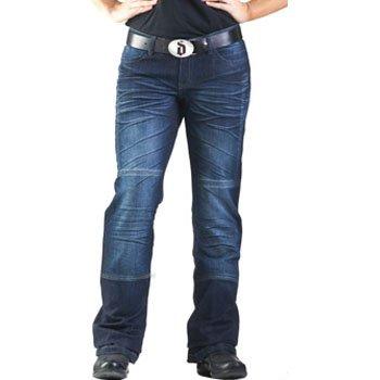 Drayko Drift Riding Jeans Women's Denim Sports Bike Motorcycle Pants - Indigo / Size 14