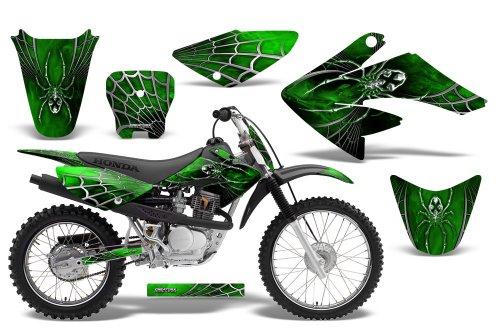 CreatorX Honda Crf 70 80 100 Graphics Kit Decals SpiderX Green