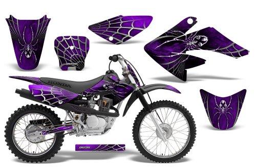 CreatorX Honda Crf 70 80 100 Graphics Kit Decals SpiderX Purple