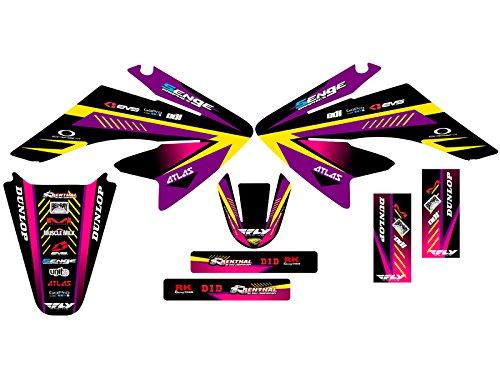 Senge Graphics 2004-2013 Honda CRF 70 Surge Purple Graphics kit