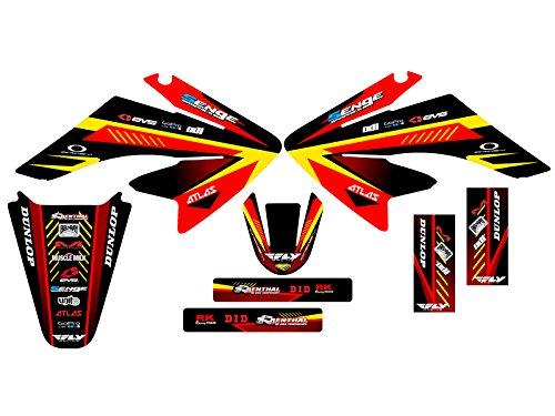 Senge Graphics 2004-2013 Honda CRF 70 Surge Red Graphics kit
