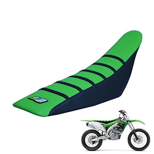 JFG RACING GreenBlack Gripper Soft Motorcycle Seat Covers For Kawasaki KX85 KX100 2001-2013