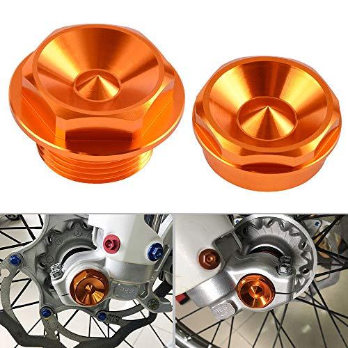 Nicecnc Orange Front Wheel Spindle Nuts Screws Replace KTM 250 SX SX-F XC XC-F XCF-W XC-W 2007-2014125 150 200 250 300 350 400 450-530 XC XCF690 ENDURO R 2009-2015950 SUPER ENDURO 2008 2009
