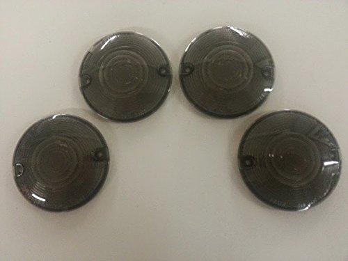 Smoke Turn Signal Flat Lens Set 4 Harley Heritage Softail Classic - FLSTC 1987-2014 repl OEM 68440-86
