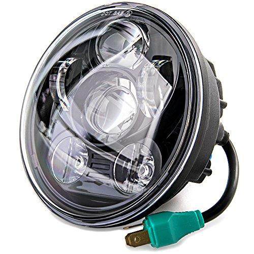 5-34 LED Projection Daymaker Headlight For Harley Sportster XL 883 1200 Dyna for Harley Davidson Dyna Super Glide Custom EFI FXDCI 2005-2006