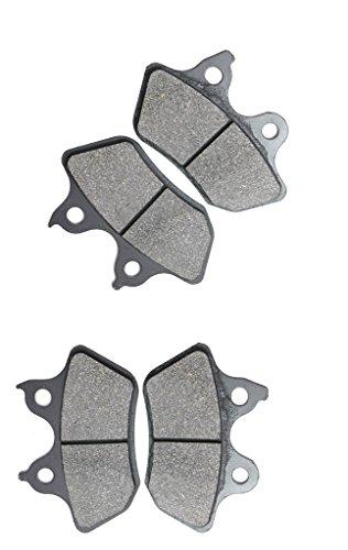 CNBK Semi-met Brake Pad Set for HARLEY DAVIDSON Street Bike FXDCI 1450 cc 1450cc Dyna Super Glide Custom 05 06 07 08 09 10 11 12 13 14 15 2005 2006 2007 2008 2009 2010 2011 2012 2013 2014 2015 4 Pads
