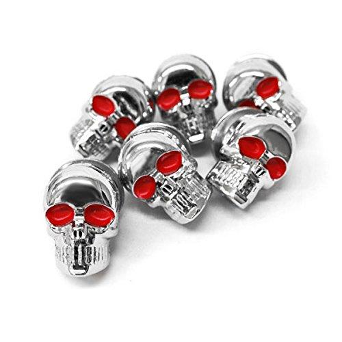 Krator Custom Chrome Skeleton Skull Bolt Nuts Screws 6mm For Harley Davidson Electra Glide Classic