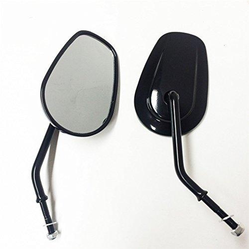 Black Rearview Shining Shining Mirrors For Harley Davidson FLSTC FXDB DYNA FXDF FLSTF 8mm By HTT