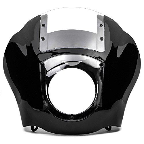 Krator NEW Black Clear Quarter Fairing Windshield Kit for Harley Davidson XL FXR Dyna