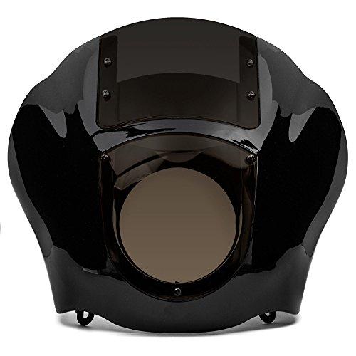 Krator NEW Black Smoke Quarter Fairing Windshield Kit for Harley Davidson XL FXR Dyna