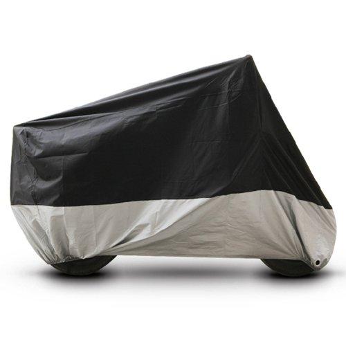 Black Silver Motorcycle Cover For Harley-Davidson FLHR Road King FLHX Street Glide UV Dust Prevention XL