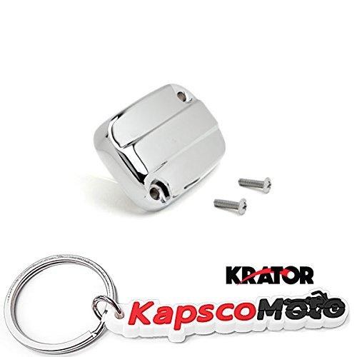 Krator Harley Davidson Electra Glide  Road King Chrome Front Brake Fluid Reservoir Cap 2007-2012  KapscoMoto Keychain