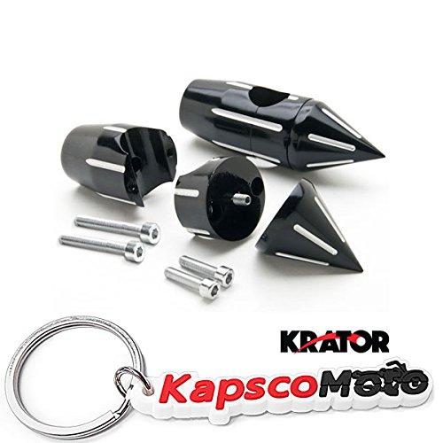 Krator 2 14 Spiked Black Motorcycle Handlebar Pullback Risers 1 Bar Handlebar Hand Bar Risers Riser Custom HONDA KAWASAKI SUZUKI HARLEY CRUISERS Metric Motorcycle Bikes  KapscoMoto Keychain