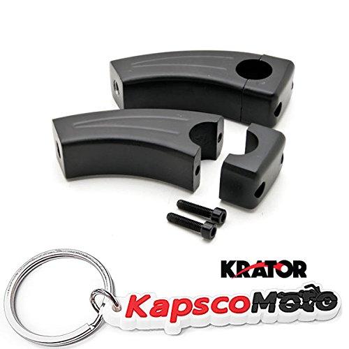 Krator 35 Black Motorcycle Handlebar Pullback Risers 1 Bar Hand Bar Risers Riser Custom Billet Chrome HONDA KAWASAKI SUZUKI HARLEY CRUISERS HOGS Metric Motorcycle Bikes  KapscoMoto Keychain