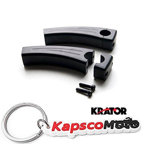 Krator 55 Black Motorcycle Handlebar Pullback Risers 1 Bar Hand Bar Risers Riser Custom Billet Chrome HONDA KAWASAKI SUZUKI HARLEY CRUISERS HOGS Metric Motorcycle Bikes  KapscoMoto Keychain