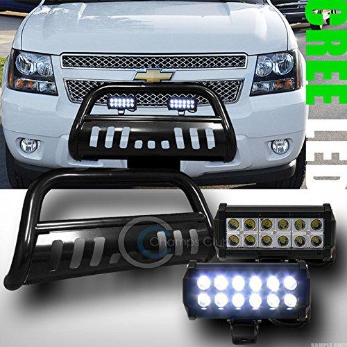 BLK BULL BAR BUMPER GRILL GUARD36W CREE LED FOG LIGHTS 2007 ESCALADEAVALANCHE