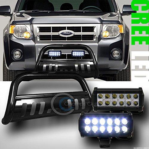 BLK BULL BAR BUMPER GRILL GUARD36W CREE LED FOG LIGHTS 2008-2012 ESCAPETRIBUTE